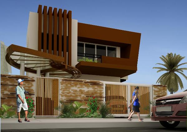 2 storey townhouse design in the philippines joy studio for Two storey residential house design