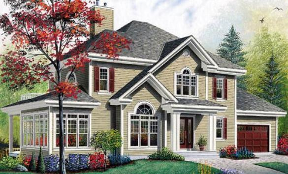 Traditional american home plans find house plans Classic house plans